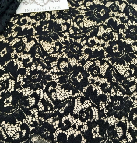 Black Lace fabric. Photo 3