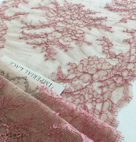 Nude with pink elastic lace trim. Photo 1