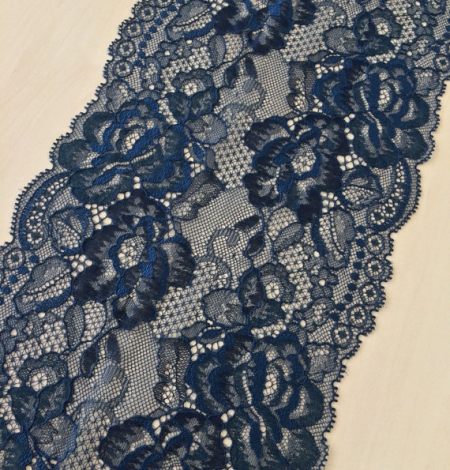 Blue with black yarn lace. Photo 1