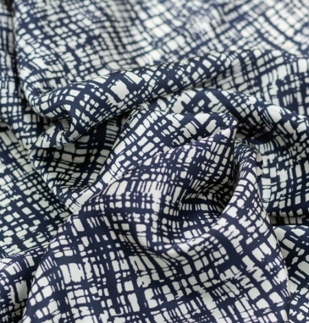 Abstract line pattern silk fabric . Photo 2