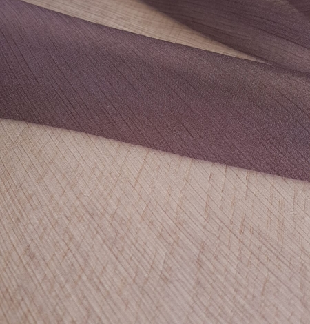 Dark lilac light silk crincle chiffon fabric. Photo 5