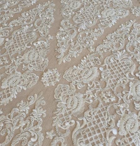 Luxury bridal beaded lace fabric. Photo 8