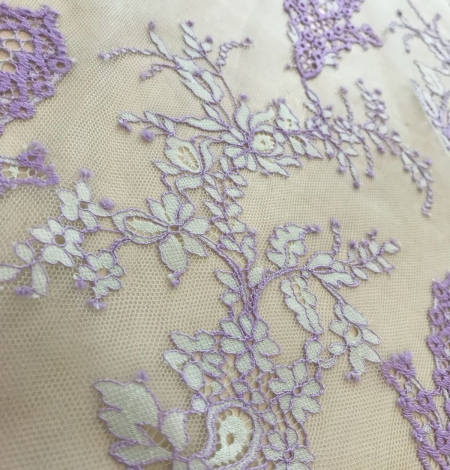 Multicolored lace fabric. Photo 7