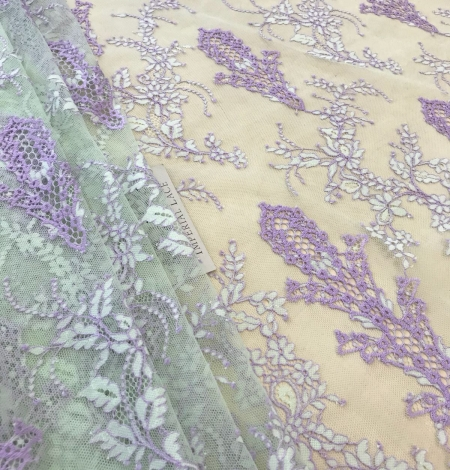 Multicolored lace fabric. Photo 6