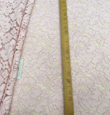 Light Pink Lace Fabric. Photo 4