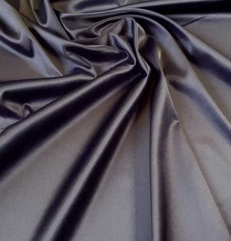 Dark grey satin fabric with elastane. Photo 1