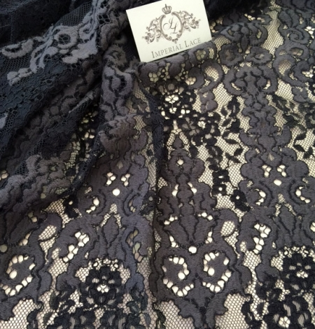 Black with grey lace fabric. Photo 3