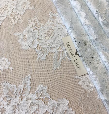 Light blue lace fabric. Photo 3