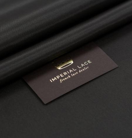 Dark brown Brunelli viscose with elastane lining fabric. Photo 1