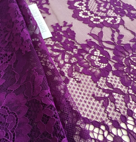 Violet lace fabric. Photo 2