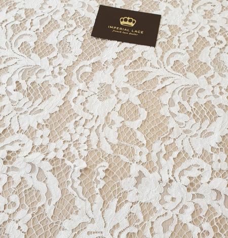 Ivory guipure lace fabric. Photo 3
