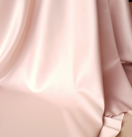 Powder pink satin fabric. Photo 8