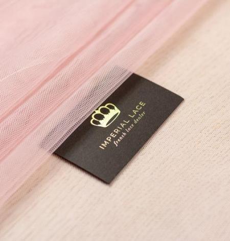 Old rose pinkish soft tulle fabric. Photo 4