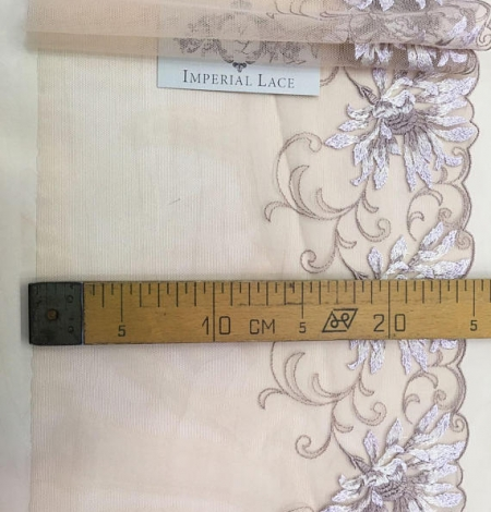 Nude soft embroidery Lace Trim. Photo 4