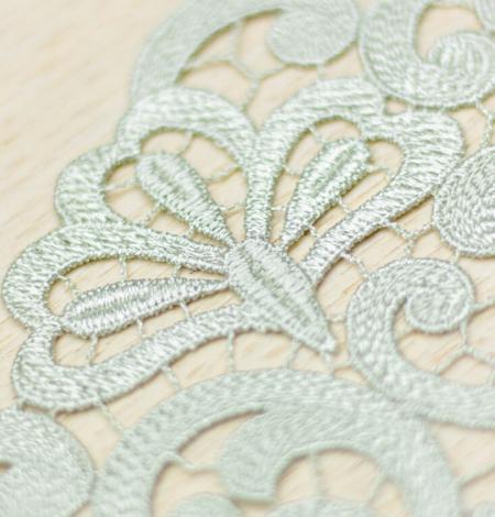 Olive green organic macrame lace trim. Photo 1