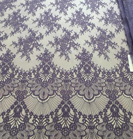 Lilac lace fabric. Photo 3