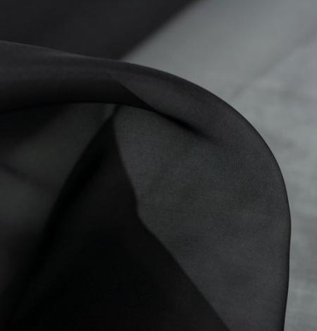 Black silk organza fabric . Photo 7