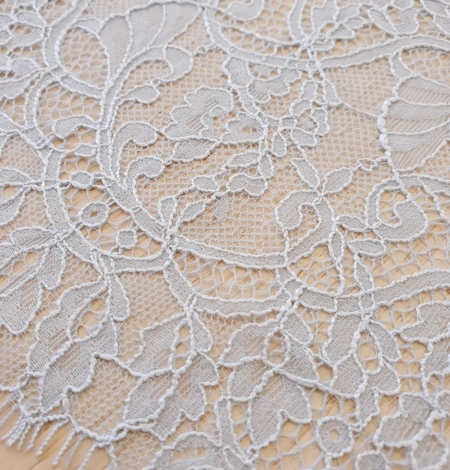 Light blue floral pattern chantilly lace trimming. Photo 5