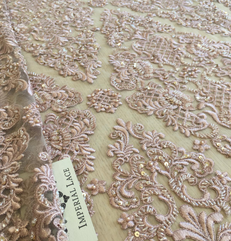 Old rose beaded lace . Photo 2