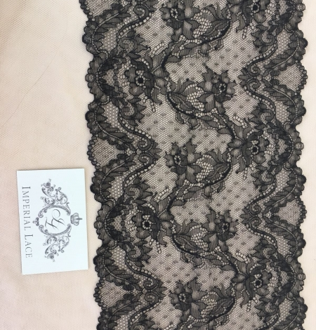 Black elastic lace trim. Photo 4