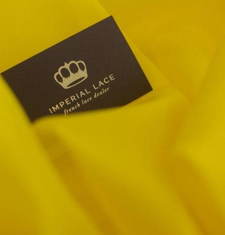 Yellow with green shade silk organza fabric. Photo 3