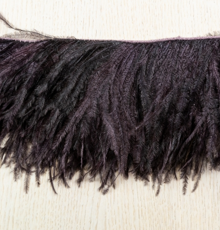 Eggplant lilac soft natural ostrich feather. Photo 7