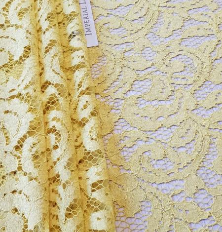 Yellow lace fabric. Photo 7