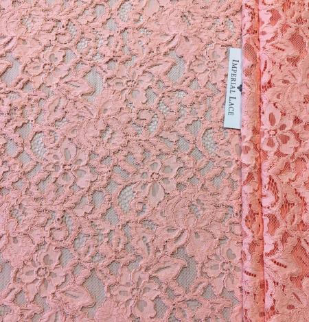 Peach lace fabric. Photo 2