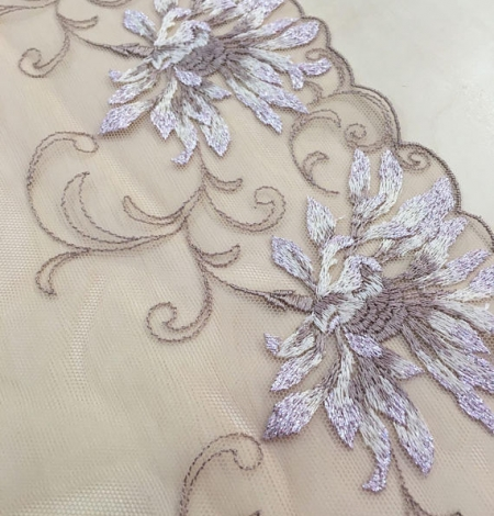 Nude soft embroidery Lace Trim. Photo 1