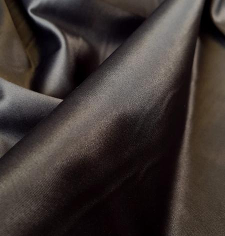 Dark grey satin fabric with elastane . Photo 3