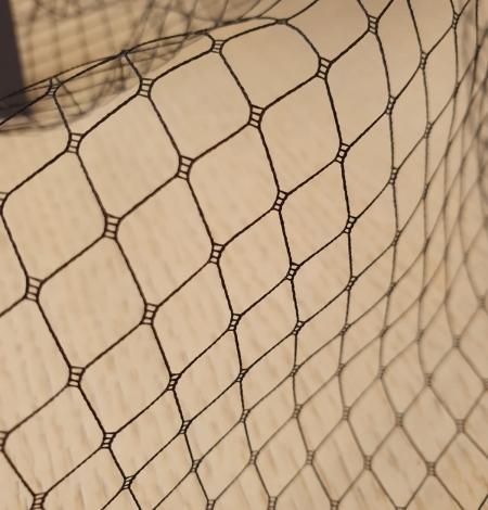 Black hat net tulle fabric. Photo 8