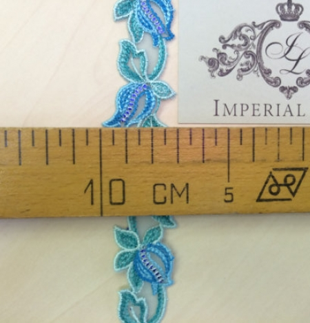 Blue with green lace trim. Photo 5