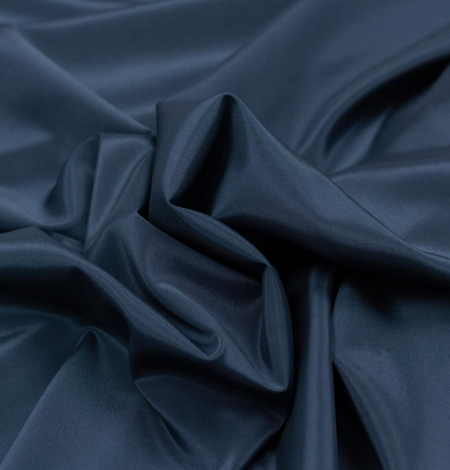 Navy blue viscose with elastane lining fabric. Photo 5