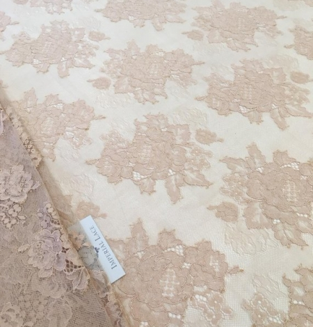 Beige lace fabric. Photo 3