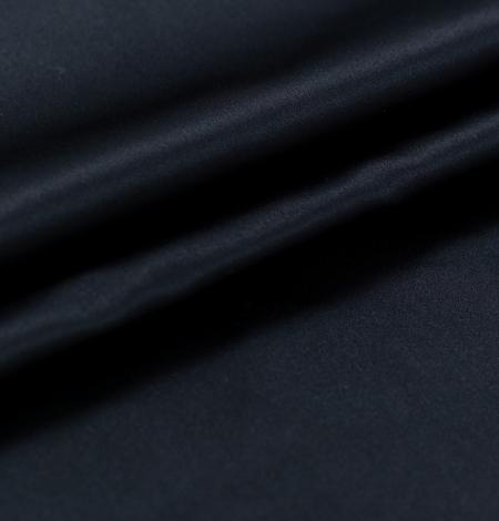 Black silk duchess fabric. Photo 8