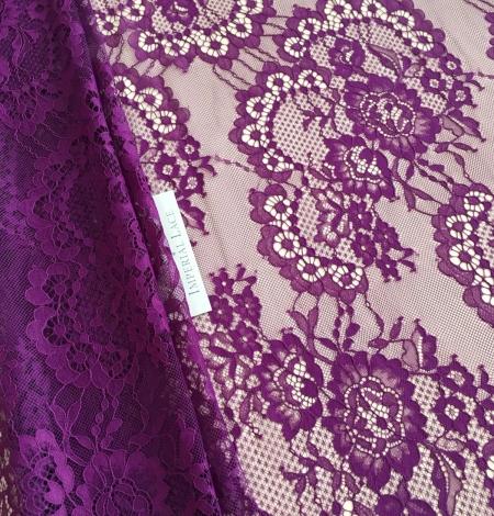 Violet lace fabric. Photo 7