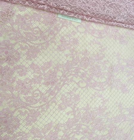 Pink lace fabric. Photo 4