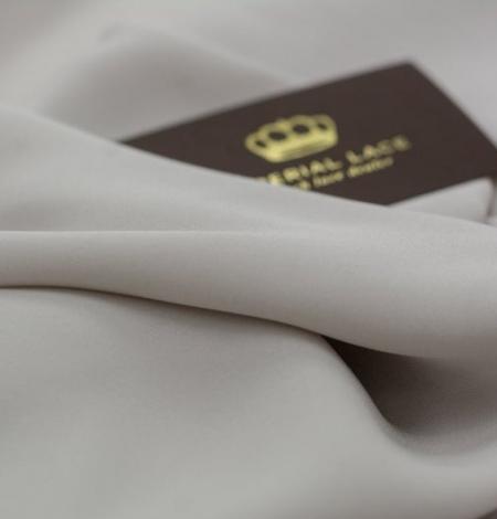 Light grey Mulberry silk with elastane crepe fabric. Photo 4