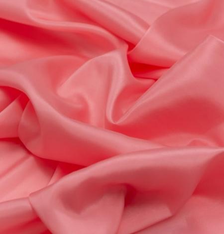 Pink salmon silk lining fabric. Photo 2