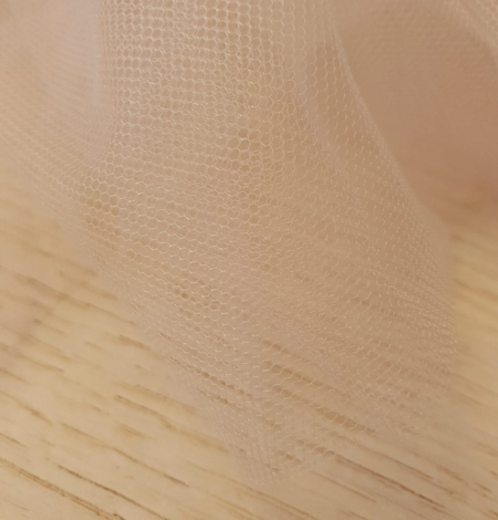 Beige invisible tulle fabric from Italy. Photo 3