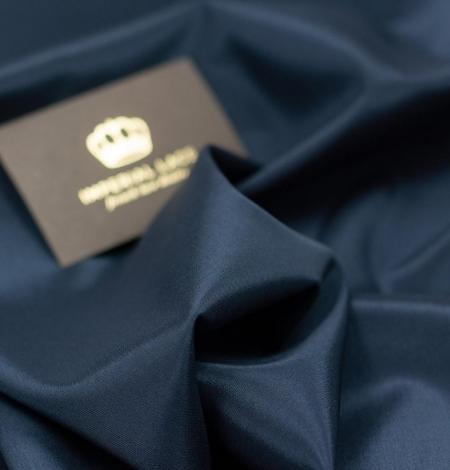 Navy blue viscose with elastane lining fabric. Photo 4