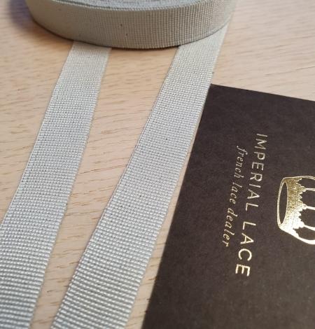 Grey grosgrain viscose ribbon. Photo 3