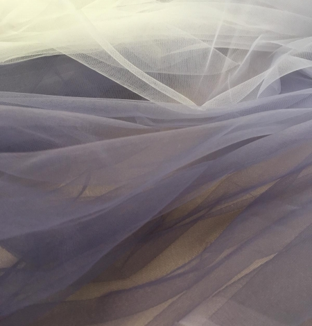 Lilac ombre tulle fabric. Photo 3