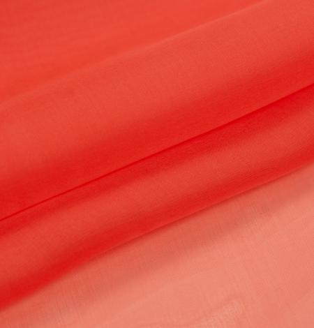 Vibrant orange silk organza fabric. Photo 6