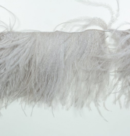 Grey lilac natural ostrich feather. Photo 3