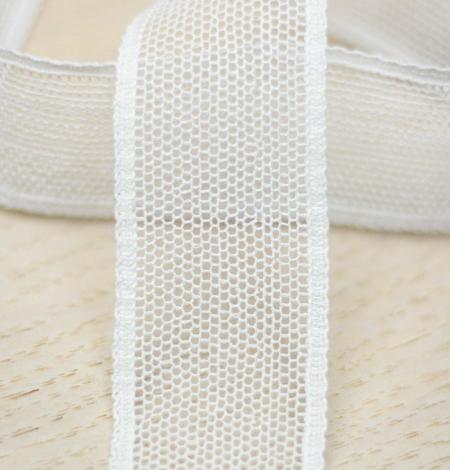 Off white mesh pattern lace trim. Photo 2