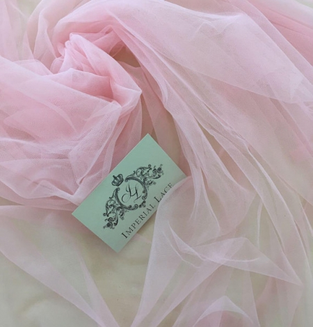 Baby pink tulle fabric. Photo 5
