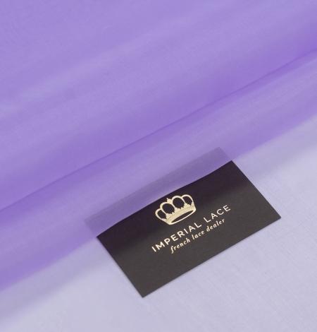 Lilac silk organza fabric. Photo 1