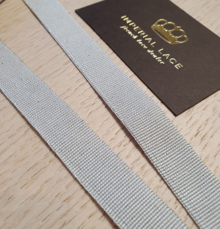 Grey grosgrain viscose ribbon. Photo 6