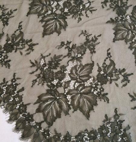 Tobacco green lace fabric. Photo 1